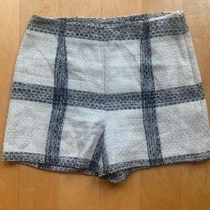 Zara Tweed Black and White Shorts, M